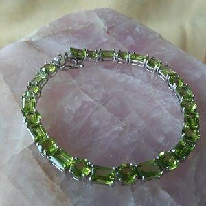 Jewelry - Manchurian Peridot Tennis Bracelet